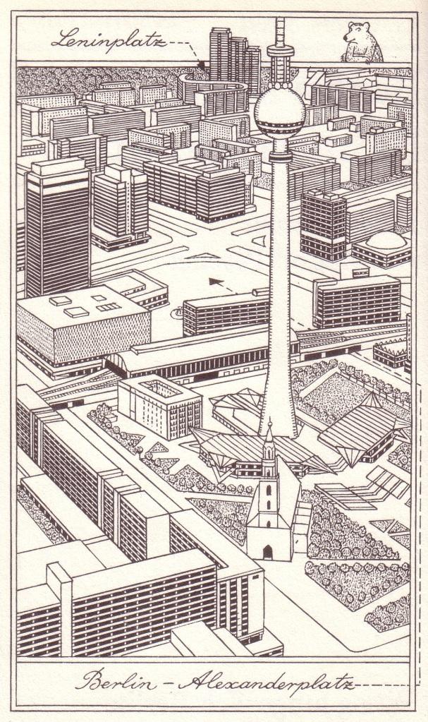 Illustration von Rudolf Peschel in Stave, Gabriele: Berlin an der Bahnsteigkante, Berlin 1987