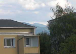 Der Ještěd von Zittau aus gesehen