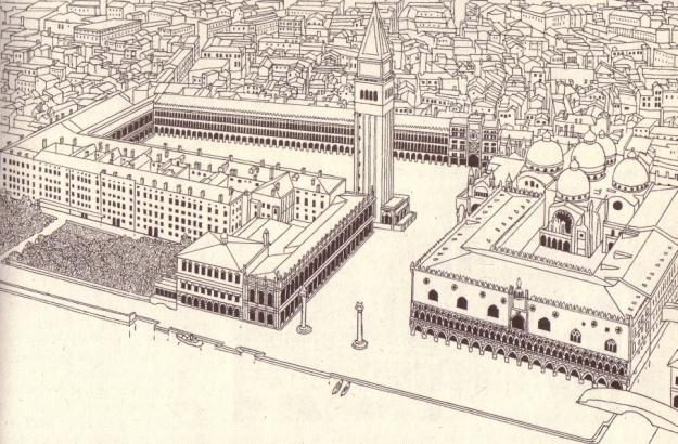 Zeichnung von Ruth und Rudolf Peschel aus Henselmann, Irene u. Hermann: Das große Buch vom Bauen, Berlin 1976