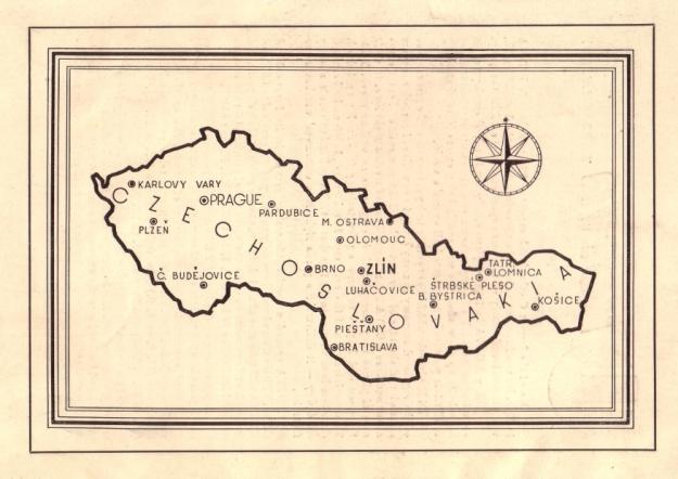 Aus Zlín - The city of the national enterprise in Czechoslovakia, Zlín o.J. (vermutlich 1946 oder 1947)