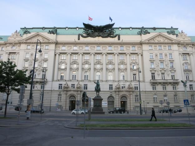 Kriegsministerium in Wien, errichtet 1913