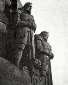 Aus Autorenkollektiv: Völkerschlachtdenkmal Leipzig, Leipzig 1975