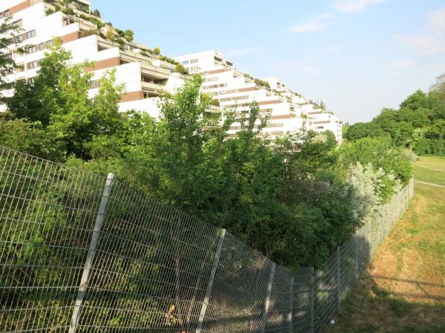 GebäudeKaiser-Ebersdorfer-StraßeFlorian-Hedorfer-StraßeZaun
